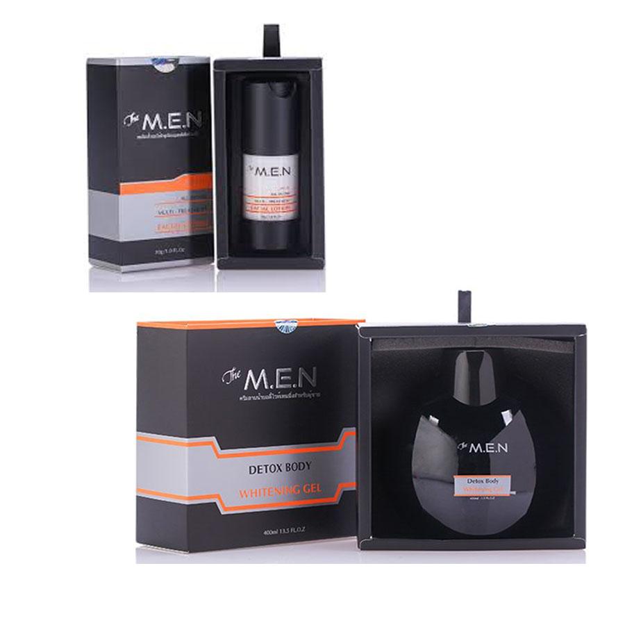 Bộ dưỡng trắng da nam detox body và facial lotion The M.E.N