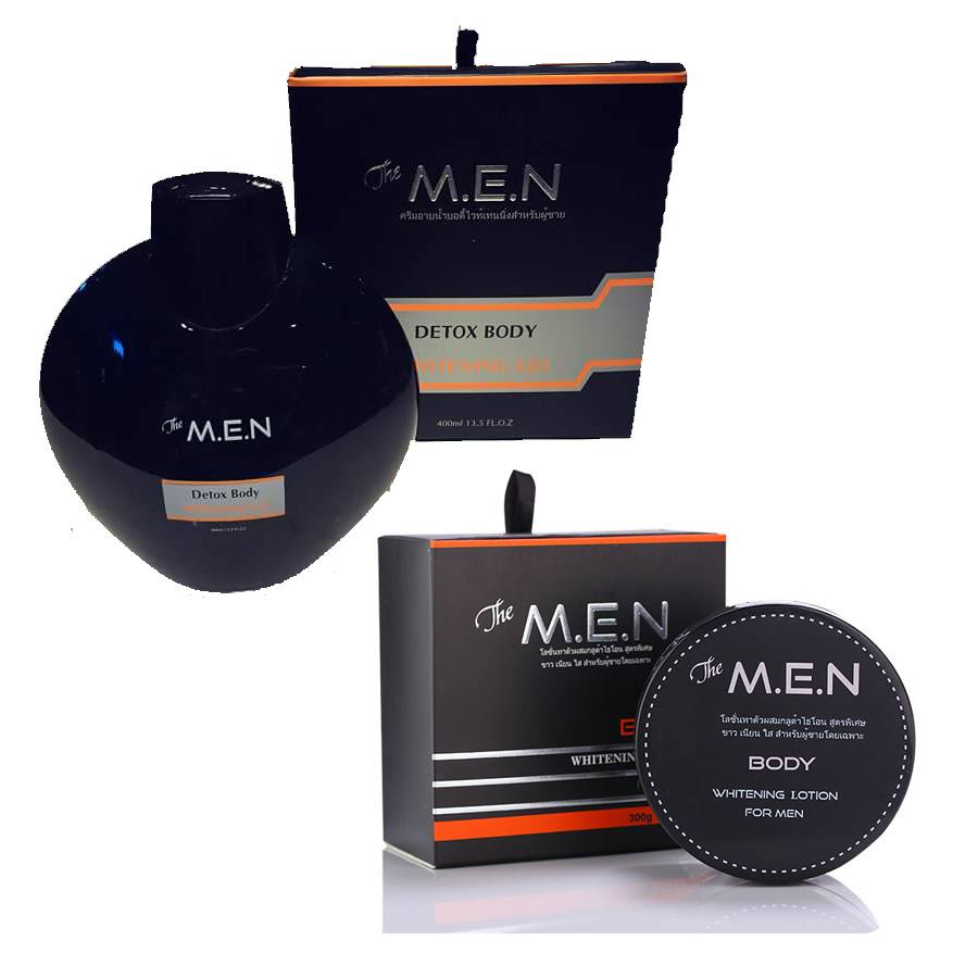 Bộ dưỡng trắng da toàn thân The M.E.N body lotion và Sữa tắm Detox body