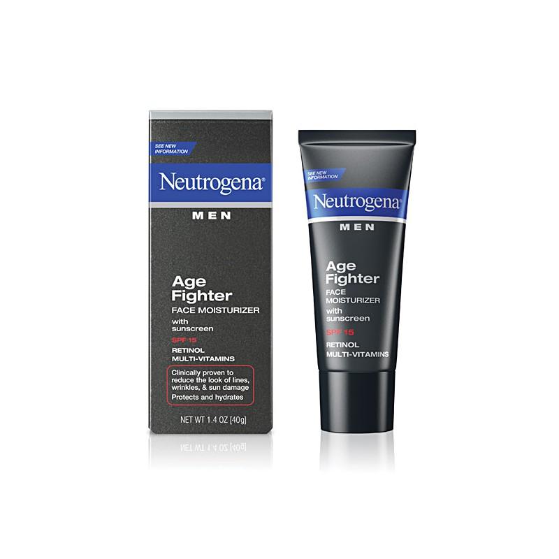 Kem chống nắng dưỡng da Neutrogena Men Age Fighter Face Moisturizer with sunscreen SPF 15 40g