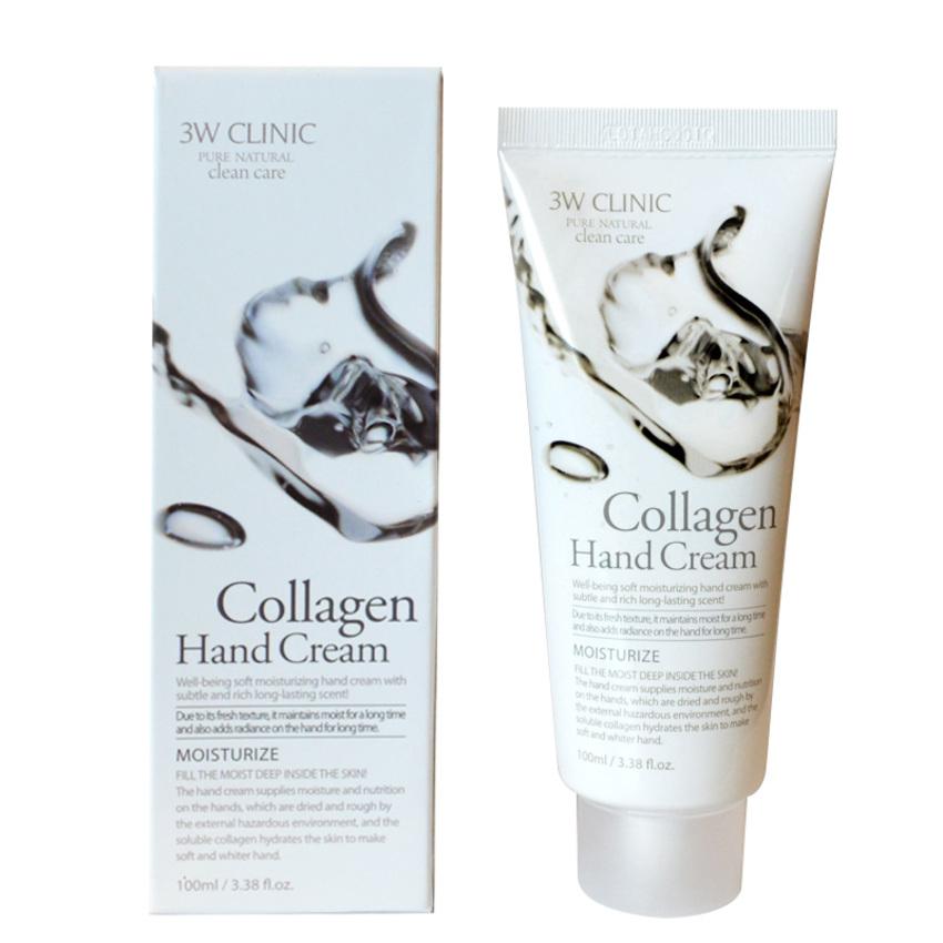 Kem Dưỡng Da Tay cho nam chiết xuất Collagen 3W Clinic Collagen Hand Cream 100ml