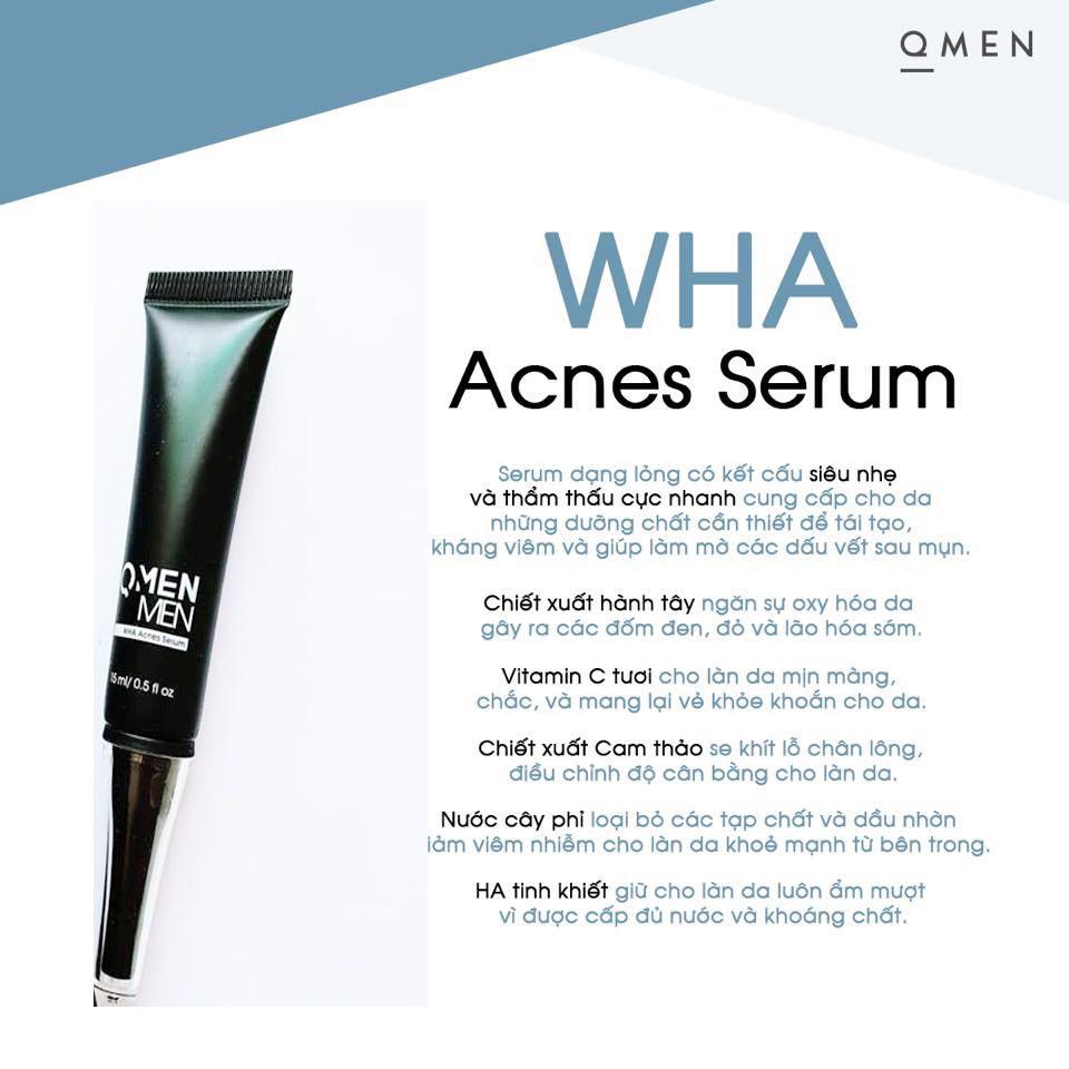 Mẫu mới-serum trị mụn Qmen wha cho nam siêu tốc