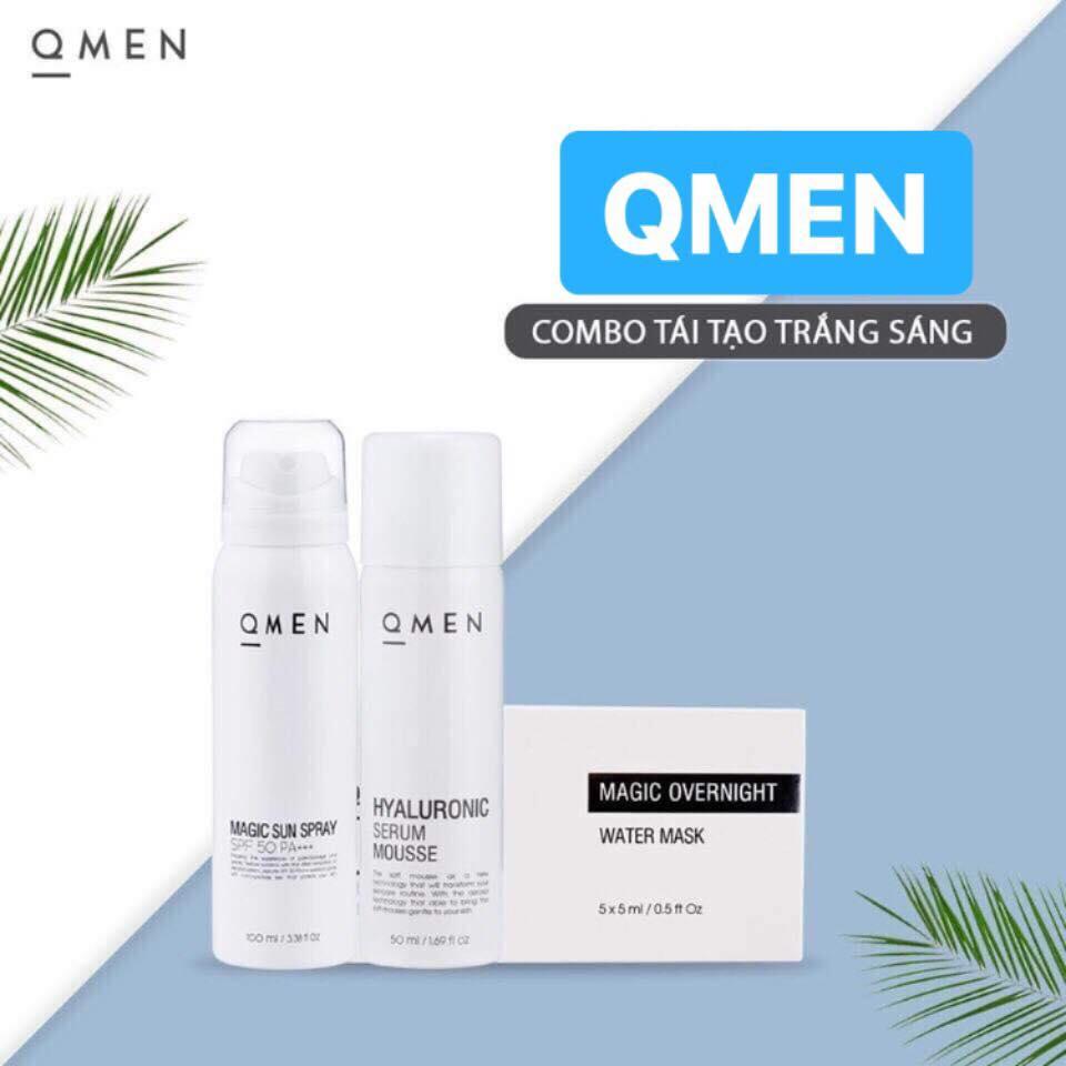 Bộ 3 tái tạo dưỡng trắng da QMEN cho nam giới
