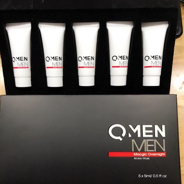 Mặt nạ ngủ trắng da QMEN Magic mẫu mới màu đen cho nam giới