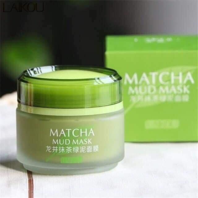 Mặt nạ trà xanh dưỡng trắng chống lão hoá cho nam Matcha Mud Mask LaiKou 85g