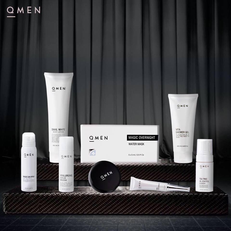 Bộ 8 dưỡng trắng da QMen cho nam giới